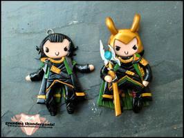 Loki Charms by GrandmaThunderpants