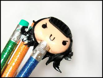 Loki Pencil Topper by GrandmaThunderpants