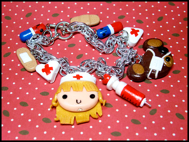 Teddy Bear Hospital Bracelet by GrandmaThunderpants