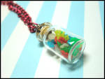 Mini Gummi Bear Jar Necklace by GrandmaThunderpants