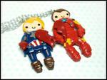 Iron Man + Captain America BFF Necklace Set