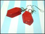 Red Rupee Earrings