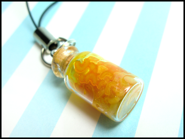 Macaroni and Cheese Mobile Strap by GrandmaThunderpants