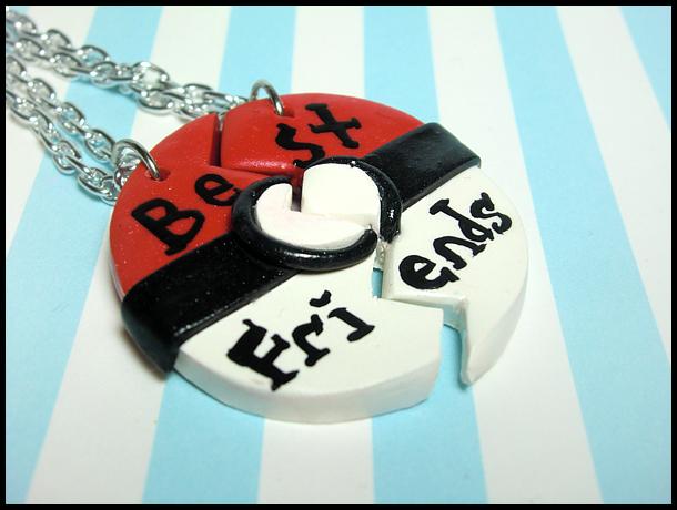 Pokeball BFF Necklace Set by GrandmaThunderpants