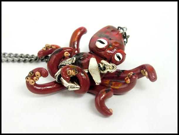 Octopus + Anchor Necklace