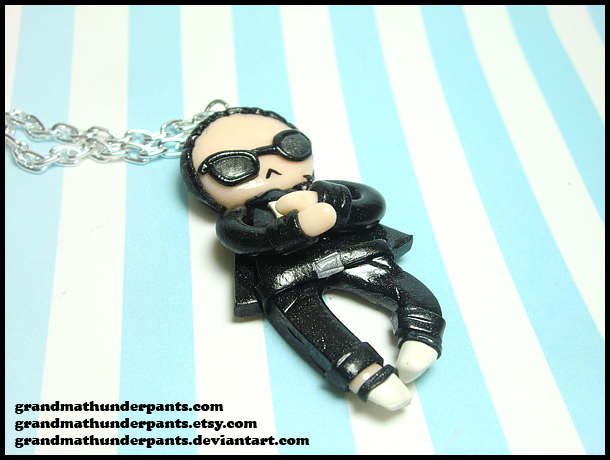Gangnam Style Necklace by GrandmaThunderpants