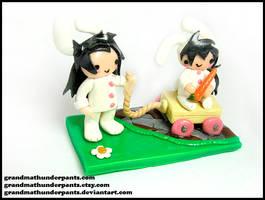 Bunny Madara and Izuna Figure by GrandmaThunderpants