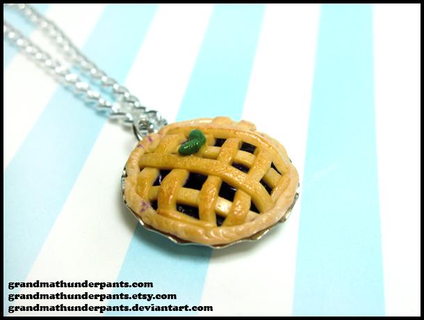 Blackberry Pie Necklace by GrandmaThunderpants