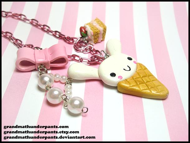 Bunny Lolita Necklace by GrandmaThunderpants