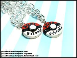 Pokeball BFF Bracelet Set by GrandmaThunderpants