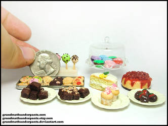 Miniature Desserts II by GrandmaThunderpants