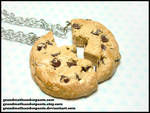 Chocolate Chip BFF Necklace Set by GrandmaThunderpants