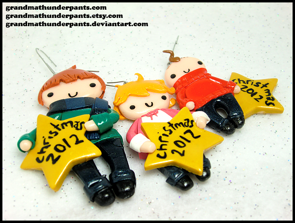 Family Ornaments by GrandmaThunderpants