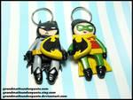 Batman and Robin Keychain Set