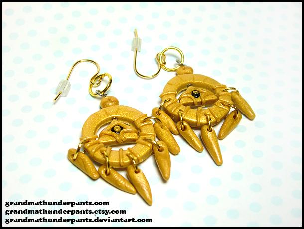 Millenium Ring Earrings by GrandmaThunderpants