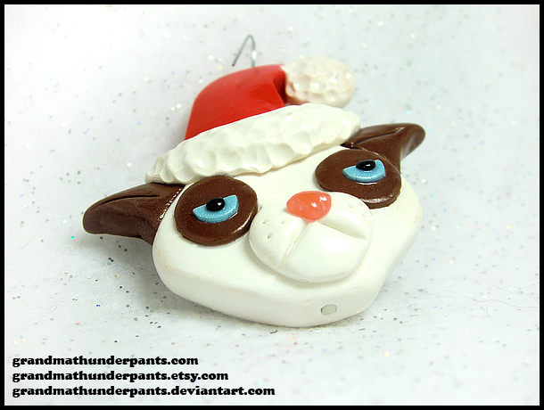 Grumpy Cat Ornament by GrandmaThunderpants