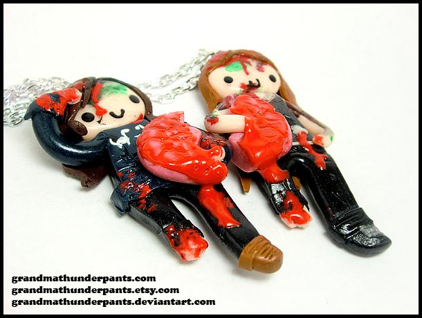 Custom Zombie BFF Set by GrandmaThunderpants