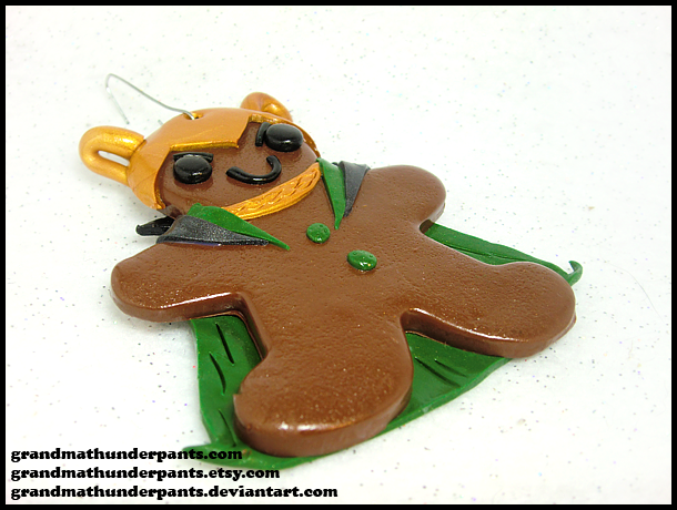 Gingerbread Loki Ornament by GrandmaThunderpants