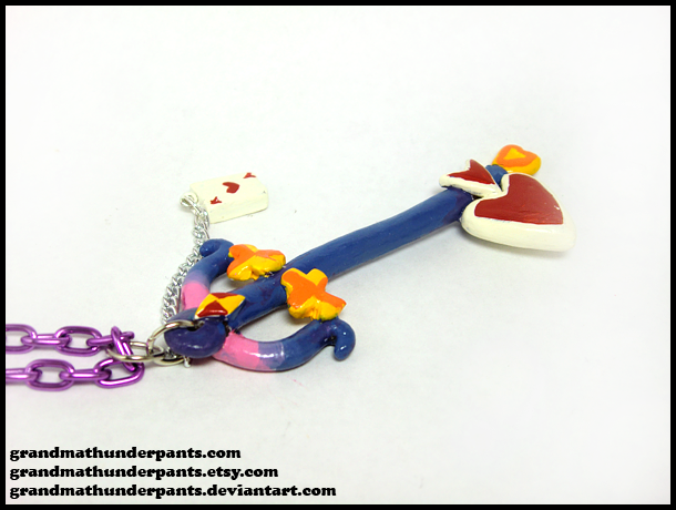 Lady Luck Keyblade Necklace by GrandmaThunderpants