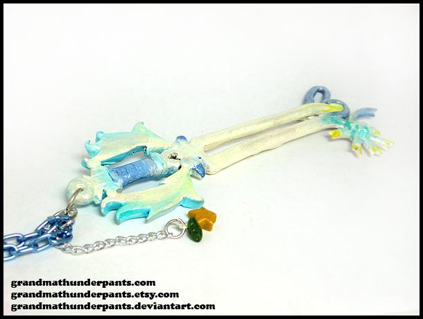 Oathkeeper Keyblade Necklace by GrandmaThunderpants