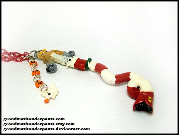 Holy Pumpkin Keyblade Necklace by GrandmaThunderpants
