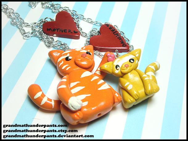 Tabby Love Necklace Set by GrandmaThunderpants