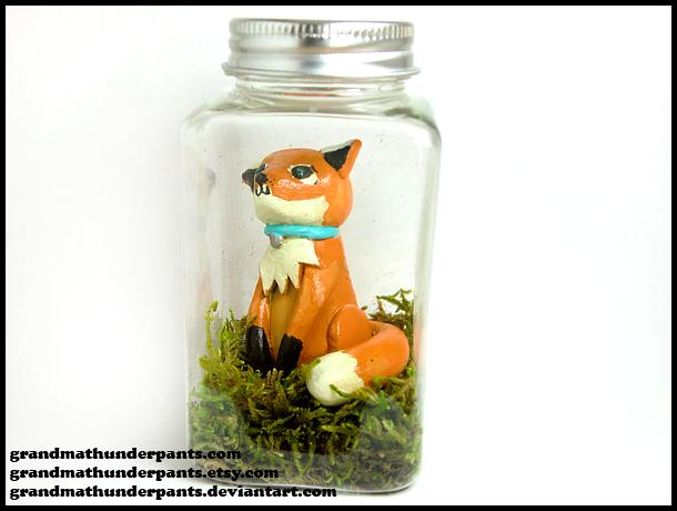 Pet Fox in a Bottle by GrandmaThunderpants