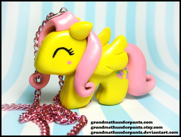 Fluttershy Necklace by GrandmaThunderpants