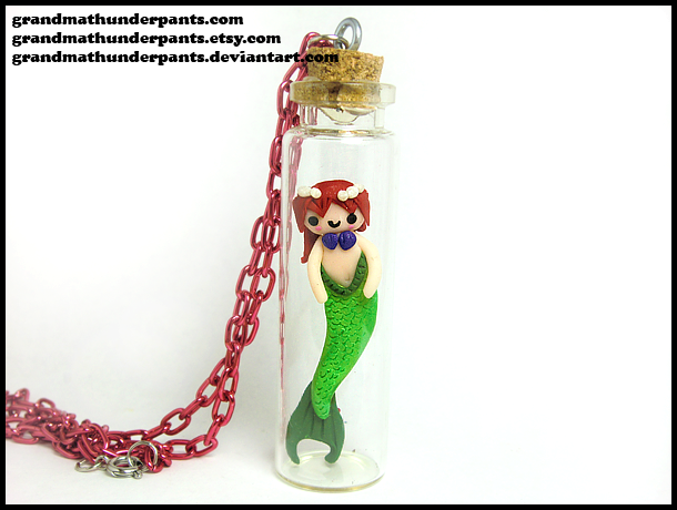 Mermaid Necklace by GrandmaThunderpants