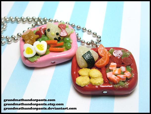 Bento Box Necklaces by GrandmaThunderpants