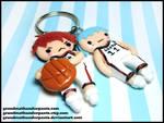 Kuroko and Kagami Keychain