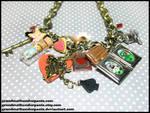Alice in Wonderland OOAK Necklace by GrandmaThunderpants