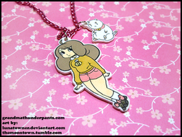 Bee and Puppycat Necklace