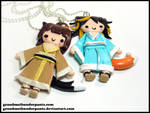 Kitsune Buddies by GrandmaThunderpants