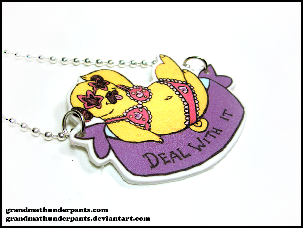 Fabulous Pug Necklace by GrandmaThunderpants