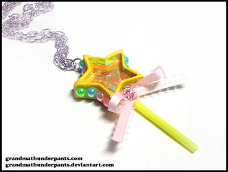 Shimmering Star Wand Necklace by GrandmaThunderpants