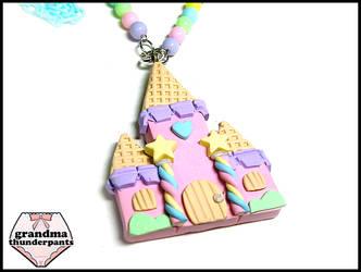 Medium Candy Castle Necklace by GrandmaThunderpants