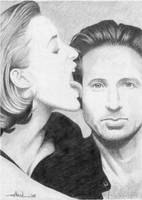 Scully and Mulder by dheck