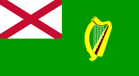 Green Ensign with St.Pat's Cross by YulianEruannoNoldor
