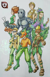 All Guardian Legendary human version by Quifang
