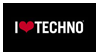 i love techno stamp by slavkox
