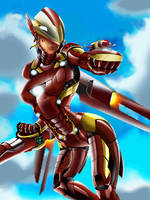Overwatch x Avenger: Iron Pharah by drakelaker