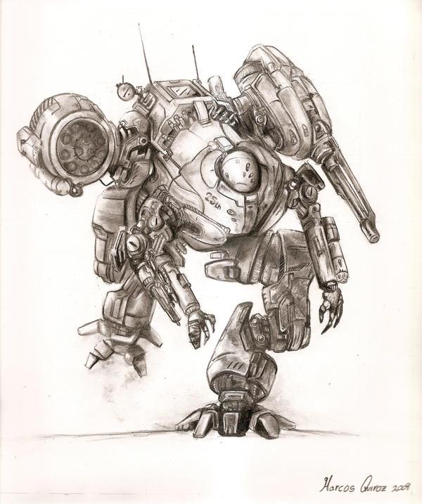 Mech illustration by llAb1ll