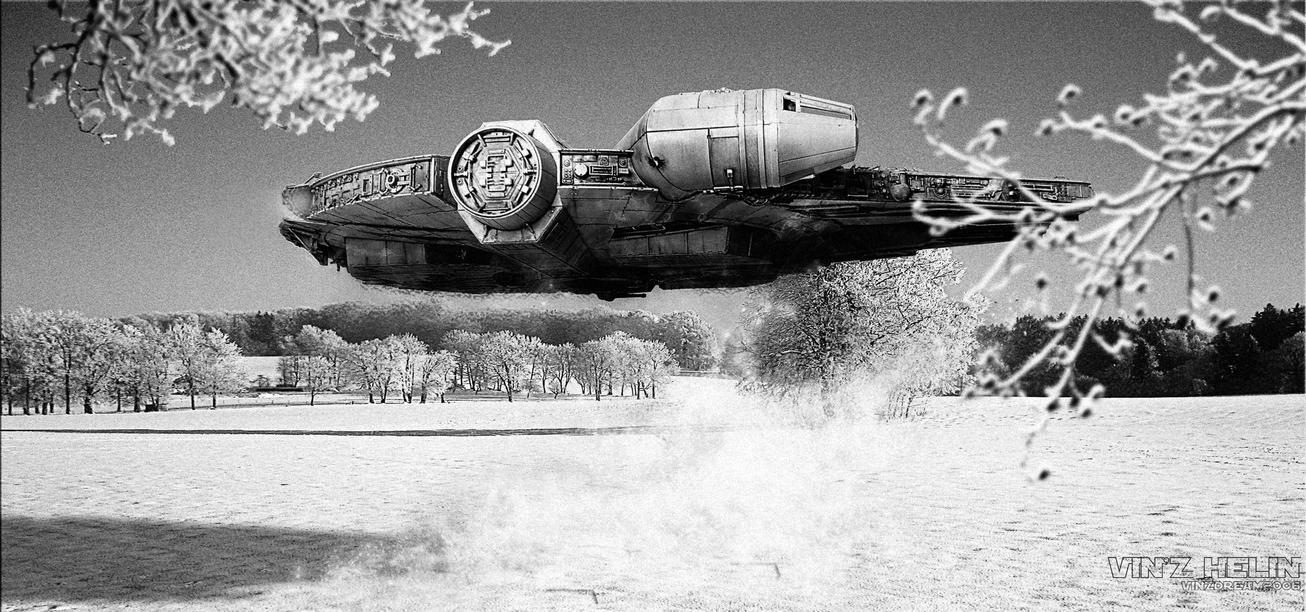 Millennium Falcon Winter by vinzdream2006