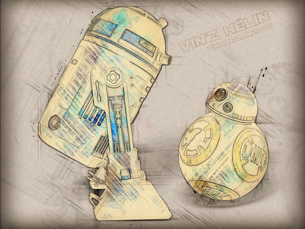 R2d2 And Bb8 by vinzdream2006