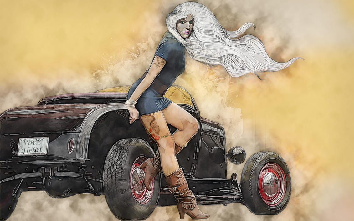 Pin Up Hot Rod by vinzdream2006