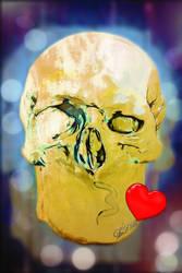 smiley skull 07 Blowing Kiss