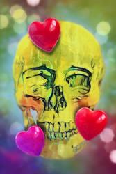 Smiley Skull 10 Hearts