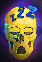 smiley skull 13 Sleeping