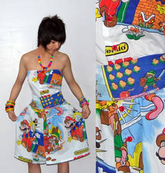 Legend of Zelda + Mario Dress by jaleh